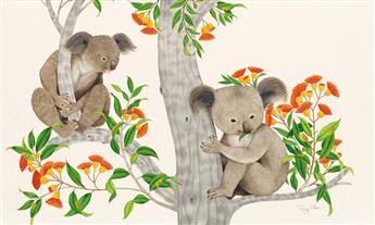 """TONY CHEN (1929- ) """"Little Koala."""" [CHILDRENS]"""