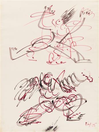 IRENE RICE PEREIRA (1902 - 1971, AMERICAN) Untitled, (Two Figures).