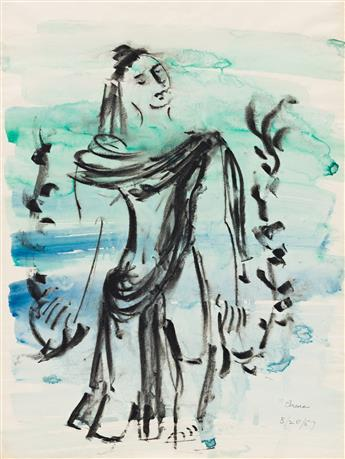 IRENE RICE PEREIRA (1902 - 1971, AMERICAN) Untitled, (Woman Under Water).