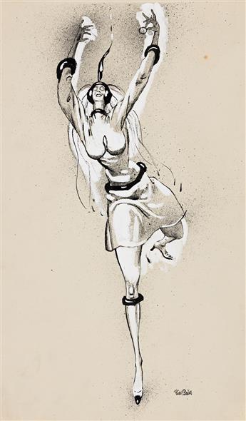 RUDOLF BAUER (1889 - 1953, GERMAN/AMERICAN) Untitled, (Dancer).
