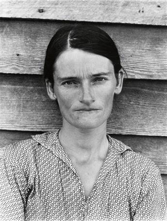 WALKER EVANS (1903-1975) Allie Mae Burroughs, Wife of a Cotton Sharecropper, Hale County, Alabama * Birmingham Steel Mill and Workers