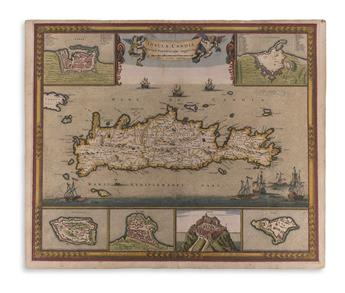 DE WIT, FREDERICK. Insula Candia Ejusque Fortifica