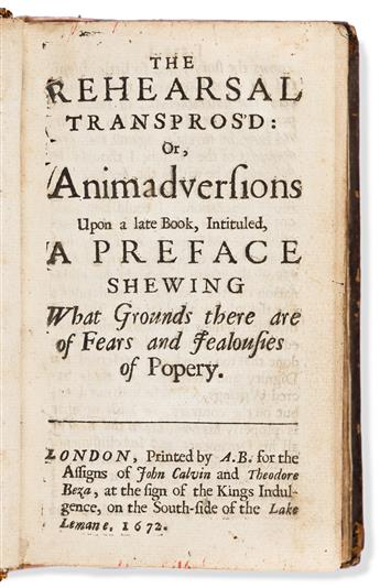 Marvell, Andrew (1621-1678) The Rehearsal Transpro