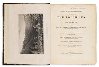Franklin, Sir John (1786-1847) First [and] Second Narrative of a Journey to the Shores of the Polar Sea.