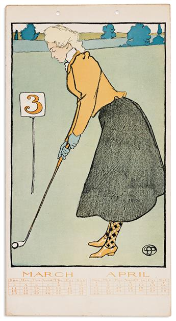EDWARD PENFIELD (1866-1925) Golf Calendar for 1900. [GRAPHICS / POSTERS / CALENDAR / GOLF]