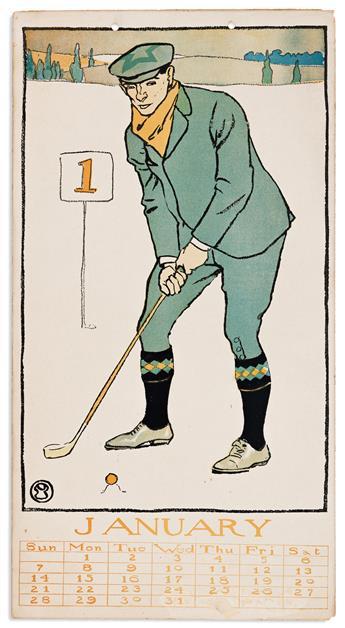 EDWARD PENFIELD (1866-1925) Golf Calendar for 1900. [GRAPHICS / POSTERS / CALENDAR / GOLF]