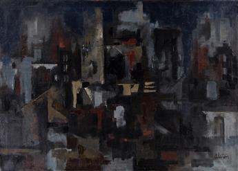 CHARLES ALSTON (1907 - 1977) City at Night.