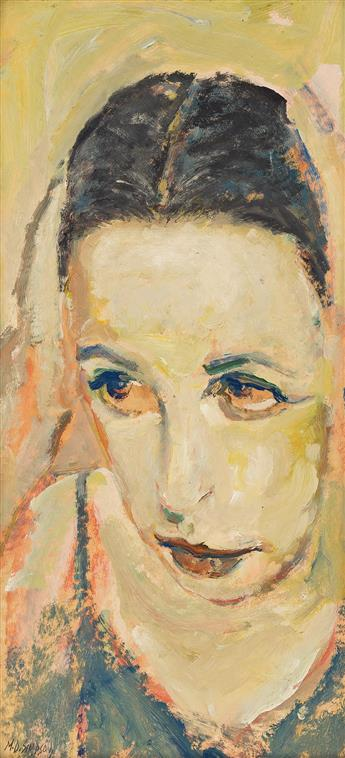 MERTON D. SIMPSON (1928 - 2013) Untitled (Portrait of a Young Woman).