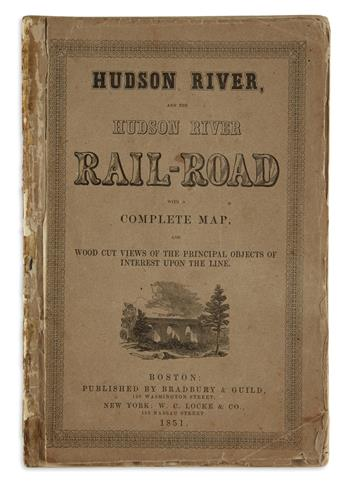 (NEW YORK.) Hudson River, and the Hudson River Rail-Road with a Complete Map,