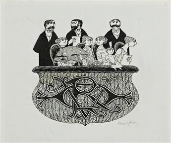 EDWARD GOREY. Audience Left Wall * Audience Right Wall.  [SET DESIGN]