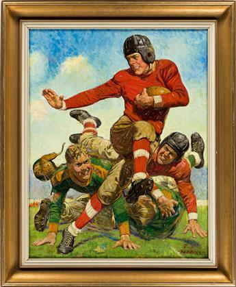 "JOSEPH F. KERNAN (1878-1958) ""College Football."" [SATURDAY EVENING POST / COVER ART / HEISMAN]"