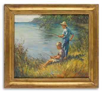 JOHN PHILIP FALTER. Two boys fishing.