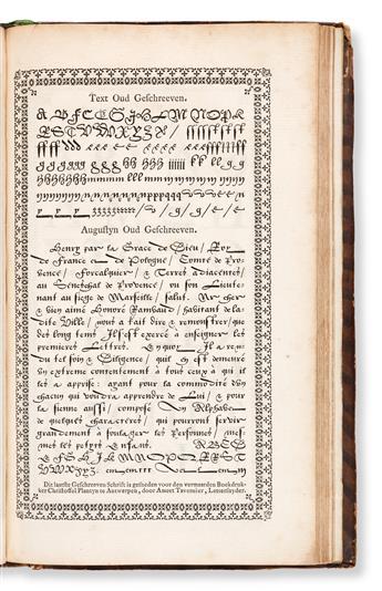 [SPECIMEN BOOK — ENSCHEDE, J., LETTERGIETERY]. Proef van Letteren, Welk gegooten worden in de Nieuwe Haerlemsche Lettergietery. [Presu