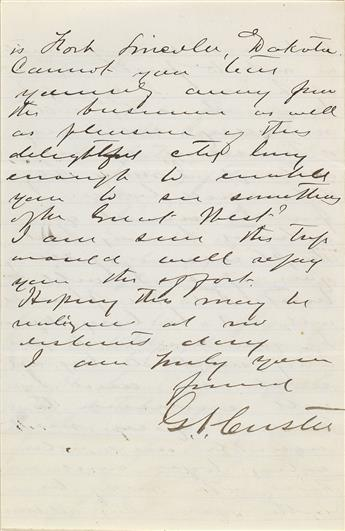 (PRESIDENTS.) Three scrapbooks of letters to Robert B. Roosevelt (uncle of Theodore) including a personal letter from Custer.