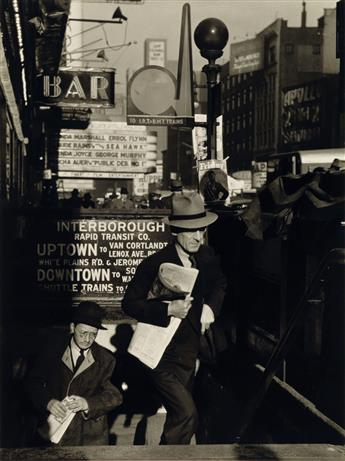 LOU STOUMEN (1916-1991) Portfolio entitled Times Square 1940: A Paper Movie.