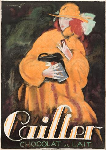 CHARLES LOUPOT (1892-1962).  CAILLER / CHOCOLAT AU LAIT. 1921. 50x34¾ inches, 127x88¼ cm. Orell Füssli, Zurich.