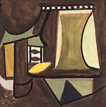 KARL KNATHS (1891-1971) (i)No. 23, and (ii)Abstraction in Brown and Yellow, (Pair).