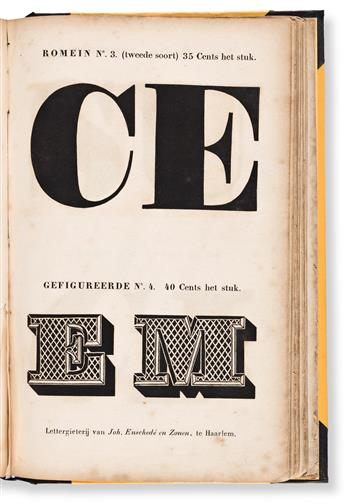 [SPECIMEN BOOK — JOH. ENSCHEDE EN ZONEN]. Proebe van Drukletteren. Haarlem, 1841.