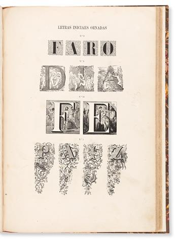 [SPECIMEN BOOK — FUNDICAO DE TYPOS DA IMPRENSA NACIONAL]. Provas da Fundicao de Typos da Imprensa Nacional. Lisbon, 1888.