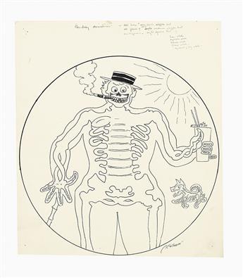(CARTOONS.)  JOHN TINNEY McCUTCHEON. Group of approximately 100 original cartoons.