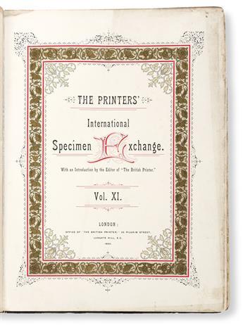 [SPECIMEN BOOK — BRITISH PRINTERS' INTERNATIONAL SPECIMEN EXCHANGE]. The Printers' International Specimen Exchange. Vol. XI. London: Of