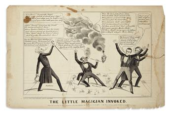 (PRESIDENTS--1844 CAMPAIGN.) Bucholzer, H; artist. Group of satirical prints on the Polk campaign and his supporter Andrew Jackson.