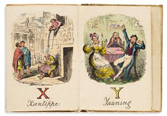 CRUIKSHANK, GEORGE. A Comic Alphabet * The Tooth-Ache.