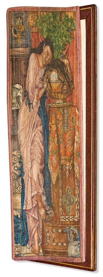 (FORE-EDGE PAINTING.) Keats, John. The Poetical Works.