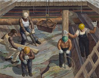 GEORGE-BELINE-Excavation-for-the-Subway-New-York