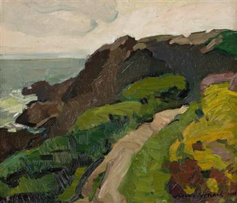 VACLAV VYTLACIL Coastal Landscape with a Path and Cliffs.