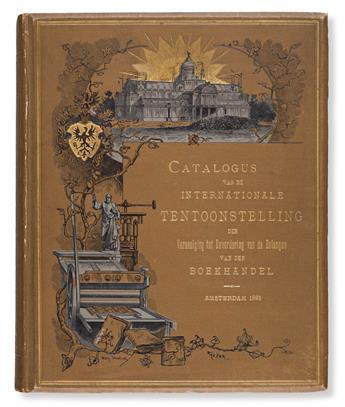 [SPECIMEN BOOKS —THREE 3 DUTCH PRINTING CATALOGUES]. Group of three Dutch Printing and Art of the Book Exhibition Catalogs.