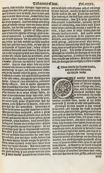 (LEAF-BOOKS)-Chaucer-Geoffrey-Two-Chaucer-Leaves