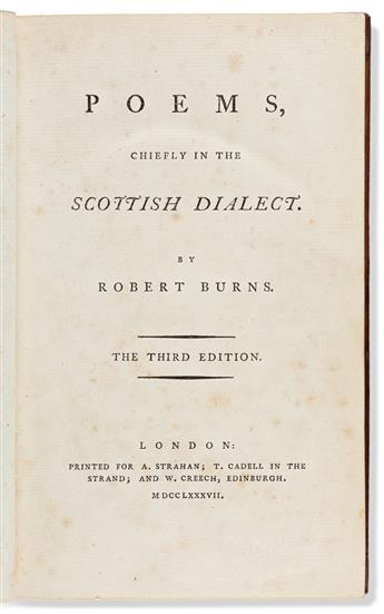 Burns, Robert (1759-1796) Poems, Chiefly in the Sc