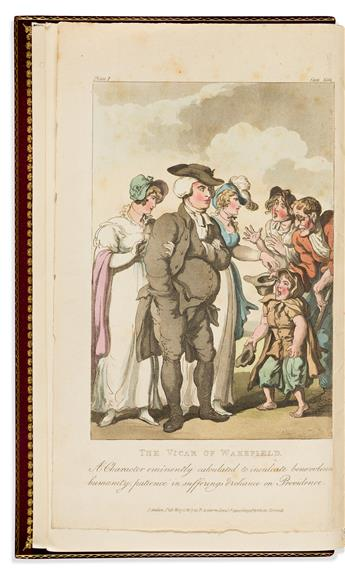 (ROWLANDSON, THOMAS.) Goldsmith, Oliver. The Vicar of Wakefield.