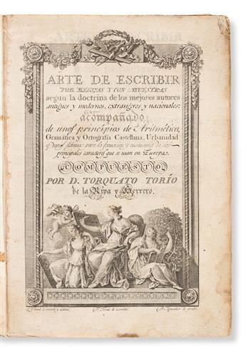 TORIO DE LA RIVA Y HERRERO, TORCUATO (1759 - 1820). Arte de Escribir por Reglas y con muestras, segun la Doctrina de los mejores Autore