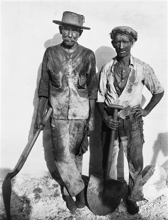 WALKER EVANS (1903-1975) Coal Dock Workers, Havana, Cuba * Maine Pump.