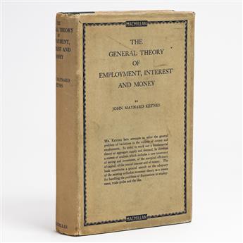 (ECONOMICS.) KEYNES, JOHN MAYNARD. The General Theory of Employment, Interest and Money.
