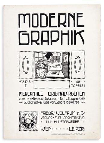 [SPECIMEN BOOK — FRIEDR. WOLFRUM & CO.]. Modern Graphik, Serie I… Mercantile Originalarbeiten zum praktischen Gebrauch fur Lithographen