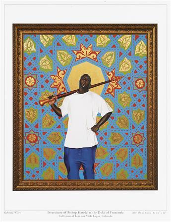 KEHINDE WILEY Passing/Posing, Paintings & Faux Chapel.
