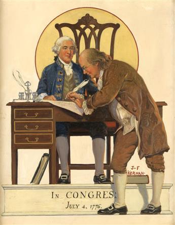 (AMERICAN REVOLUTION / BENJAMIN FRANKLIN / INDEPENDENCE DAY.)  JOSEPH KERNAN. In Congress, July 4, 1776.