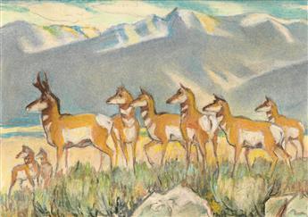 PAUL-BRANSOM-Group-of-three-animal-drawings