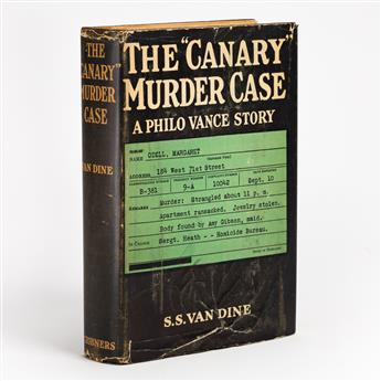 VAN DINE, S.S. The Canary Murder Case.