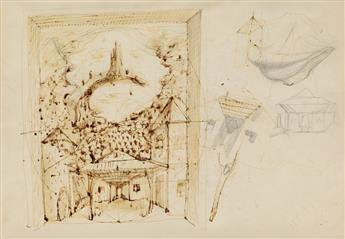 PAVEL TCHELITCHEW. (THEATER / BALLET / SET DESIGN) Sketch.