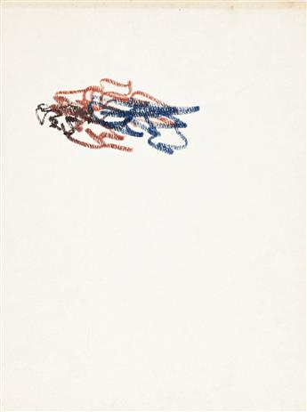 WILLEM DE KOONING Sketchbook with two color drawings.