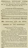 (SLAVERY AND ABOLITION.) DOUGLASS, FREDERICK---JOHN BROWN. Frederick Douglass Paper.