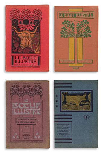 [PERIODICAL — VARIOUS DESIGNERS/BELGIUM]. Le Boeuf Illustré. Brussels, 1903-1909.