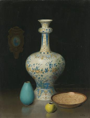 HARRY-WATROUS-Still-Life-with-a-Delft-Vase