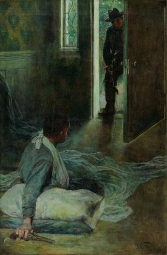 HOWARD PYLE. It was a Comrade from His Own Regiment.