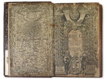 BIBLE IN ENGLISH.  The Bible; that is, The Holy Scriptures contained in the Old & New Testament.  1607.  Lacks 2 preliminary leaves.