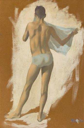 ROBERT BLISS Boy Bather with a Blue Towel.